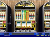 Black and White Gold 1 Line Slot Slot Reels