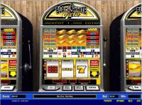 Black and White Gold 5 Line Slot Slot Reels