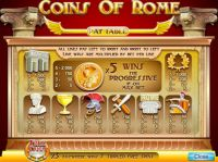 Coins Of Rome Slot Info