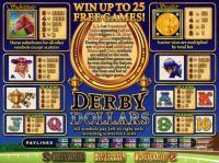 Derby Dollars Slot Info