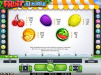 Fruit Shop Slot Info