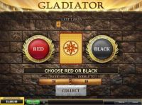 Gladiator Slot Gamble Screen