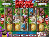 Gnome Sweet Home  Rival  Slot  reels
