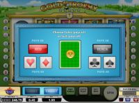 Gold Trophy Slot Gamble Screen