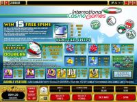 International Casino Games Slot Info