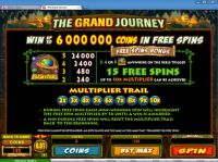 The Grand Journey Slot Bonus 1