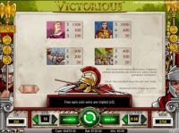 Victorious Slot Info