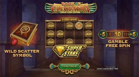 Book of Cleopatra Super Stake Edition StakeLogic Slot Info