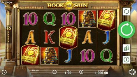 Book of Sun Booongo Slot Slot Reels