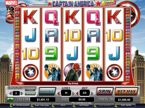 Captain America - Action Stacks! Slot Slot Reels