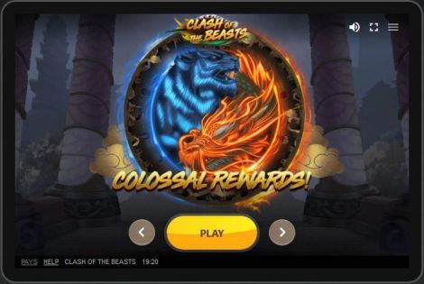 Clash of the Beasts Red Tiger Gaming Slot Slot Reels