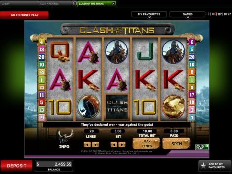 Clash of the Titans Slot Slot Reels