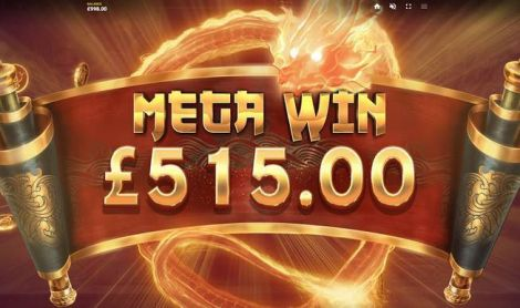 Dragon's Luck Deluxe Red Tiger Gaming Slot Winning