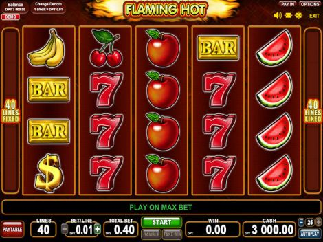 Flaming Hot Slot Slot Reels