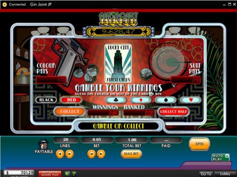 Gin Joint Jackpot Slot Gamble Screen