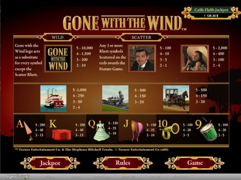 Gone With The Wind Slot Info