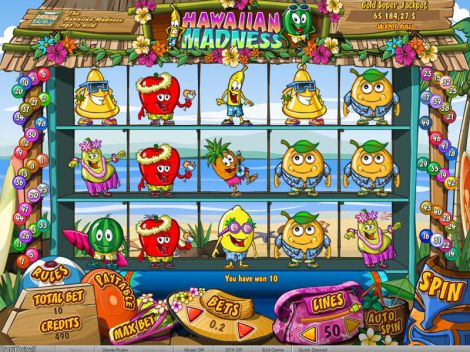Hawaiian Madness Slot Slot Reels
