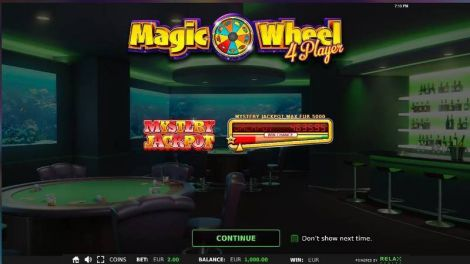 Magic Wheel 4 Player StakeLogic Slot Info