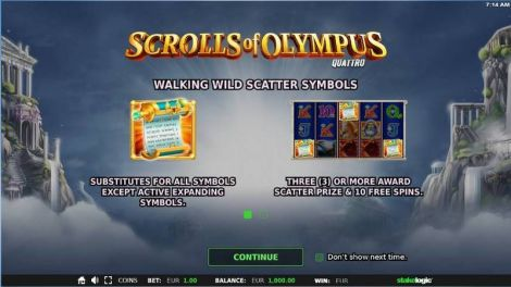 Scrolls of Olympus Slot
