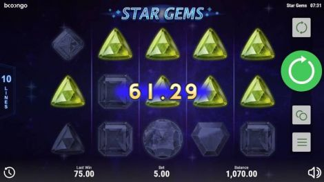 Star Gems Slot Winning