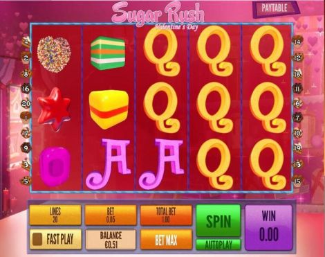 Sugar Rush Valentine's Day Slot Slot Reels