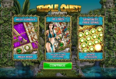 Temple Quest Spinfinity Slot Info