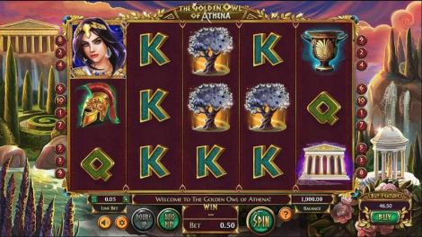 The Golden Owl of Athena Slot Info