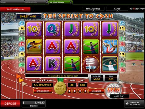 The Sprint To Cash Slot Slot Reels