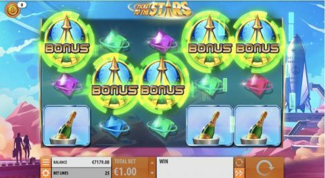 Ticket to the Stars Quickspin Slot Bonus 1