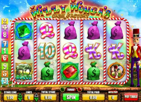 Willy Wonga's Cash Factory Slot Slot Reels