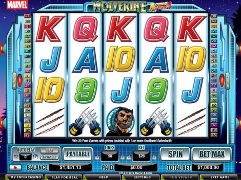 Wolverine - Action Stacks! Slot Slot Reels