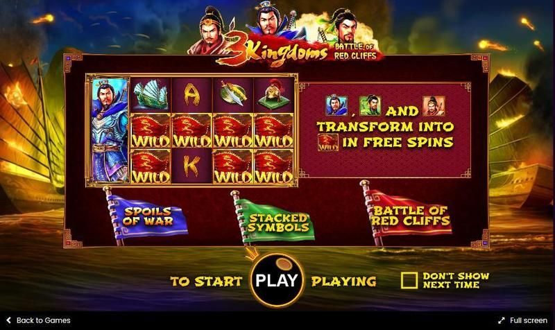 3 kingdoms - battle for red cliffs casino