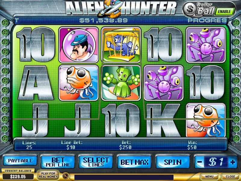 Alien Hunter Slot Slot Reels