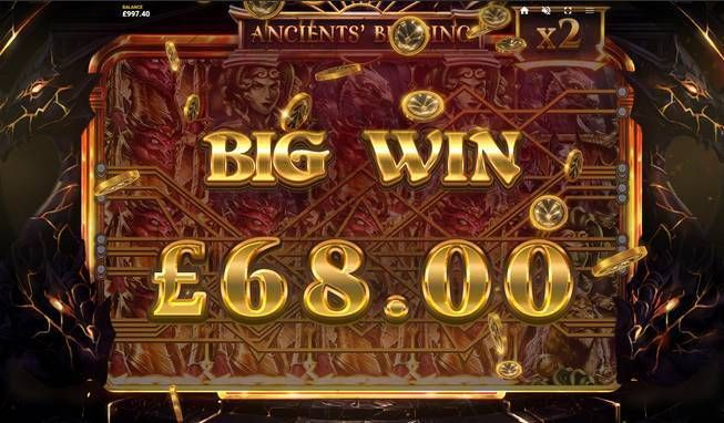Ancients' Blessing Red Tiger Gaming Slot Winning
