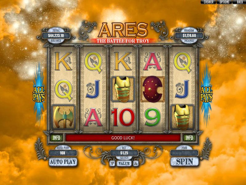 Ares: The Battle for Troy RTG Slot Slot Reels