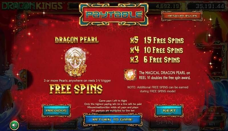 Dragon Kings Slot Bonus 1