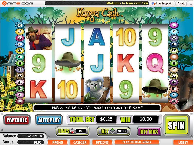 Kanga Cash™ Slot Machine Game to Play Free in Cryptologics Online Casinos