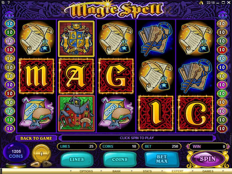Magic Spell  Microgaming  Slot  reels