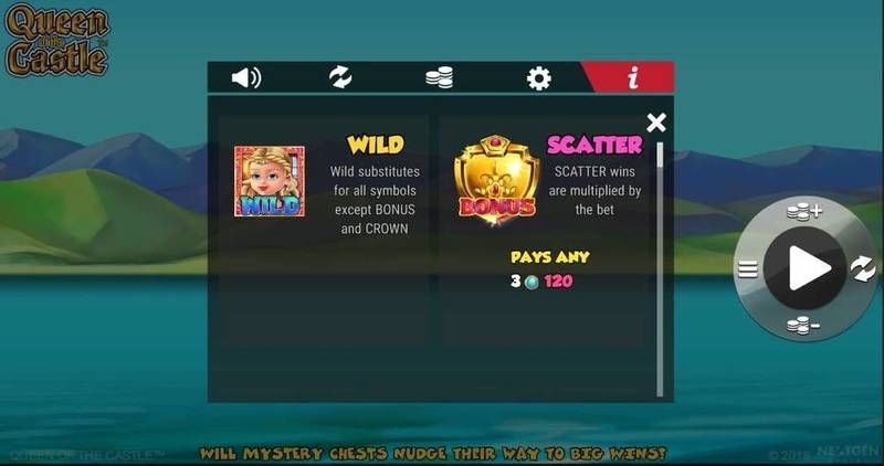 Queen of Castle NextGen Gaming Slot Bonus 1