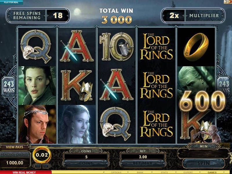 play lord of the rings slot machine free
